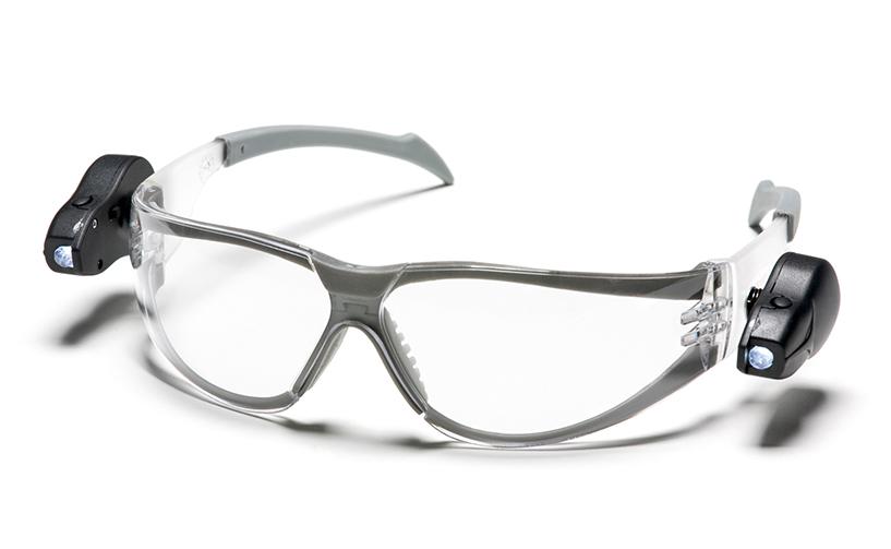 משקפי מגן+פנס לד